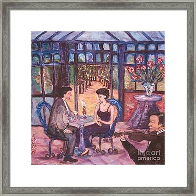 Framed Print featuring the painting The Wandering Violinist by Helena Bebirian