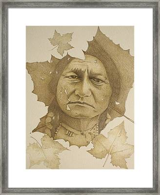 Framed Print featuring the drawing The War Chief by Tim Ernst