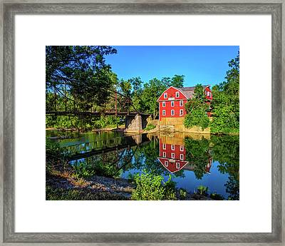 The War Eagle Arkansas Mill And Bridge IIi - Northwest Arkansas Framed Print