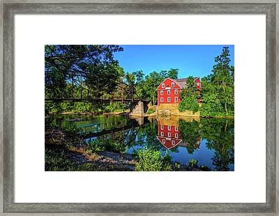 The War Eagle Arkansas Mill And Bridge - Northwest Arkansas Framed Print