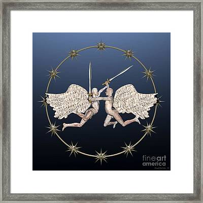 The War In Heaven Framed Print by Walter Oliver Neal