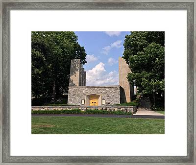 The War Memorial Chapel At Virginia Tech Framed Print