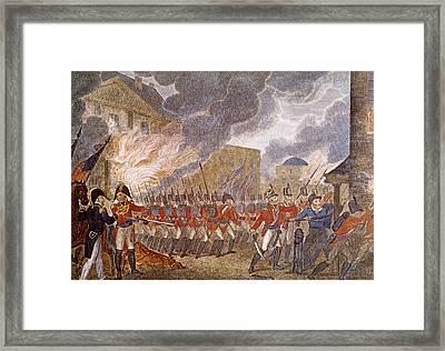 The War Of 1812, British Forces Burning Framed Print