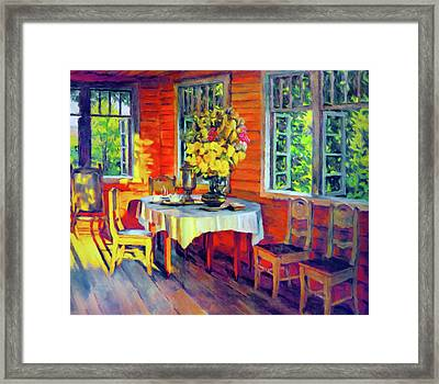 The Warmth Of Home Framed Print