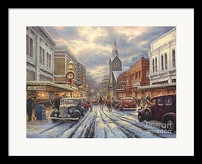 Small Town Life Framed Prints