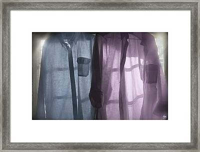 The Warmth Of Washday Framed Print