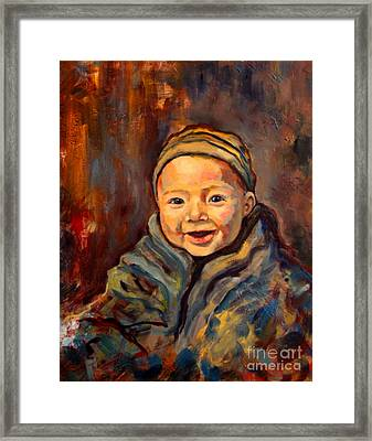 Framed Print featuring the painting The Warmth Of Winter by Angelique Bowman
