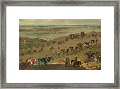 The Warren Hill Newmarket  Framed Print by John Wootton