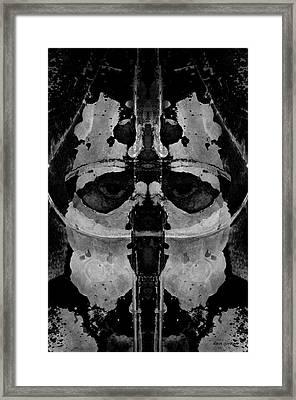 The Warrior Bw Framed Print