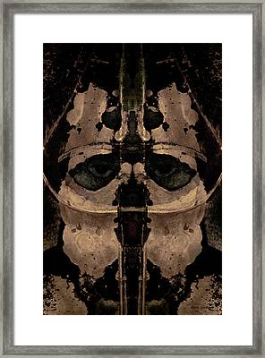 The Warrior Toned Framed Print by David Gordon