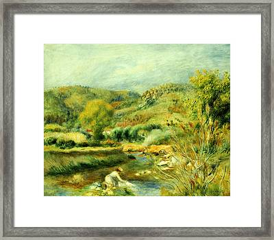 The Washerwoman Framed Print