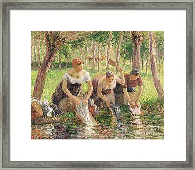 The Washerwomen Framed Print