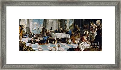 The Washing Of The Feet Framed Print