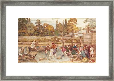The Washing Place Framed Print by John Roddam Spencer Stanhope