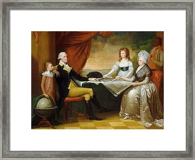 The Washington Family Framed Print by Edward Savage