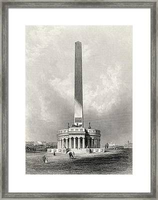 The Washington National Monument Framed Print by Vintage Design Pics