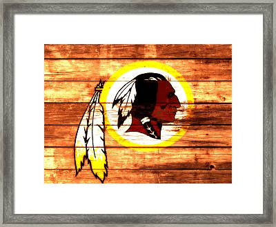 The Washington Redskins 3a Framed Print by Brian Reaves