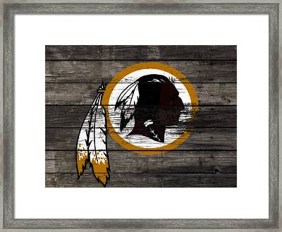 The Washington Redskins 3c Framed Print by Brian Reaves