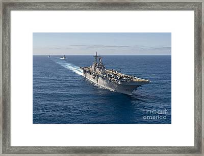 The Wasp-class Amphibious Assault Ship  Framed Print by Celestial Images