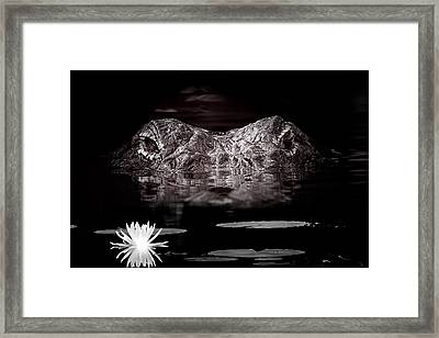 The Watcher In The Water Framed Print by Mark Andrew Thomas