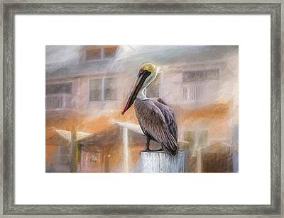 Framed Print featuring the mixed media The Watcher by Joel Witmeyer