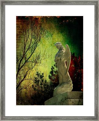 The Watcher Framed Print by Leah Moore