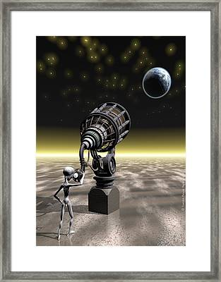 The Watcher Framed Print by Sandra Bauser Digital Art