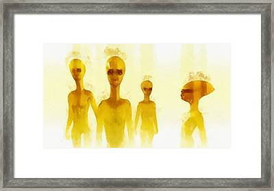 The Watchers By Raphael Terra Framed Print by Raphael Terra