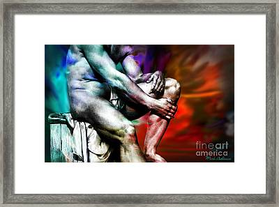 The Watching Man   Framed Print by Mark Ashkenazi