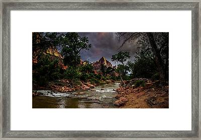 The Watchman Along The Virgin River Framed Print by Scott McGuire