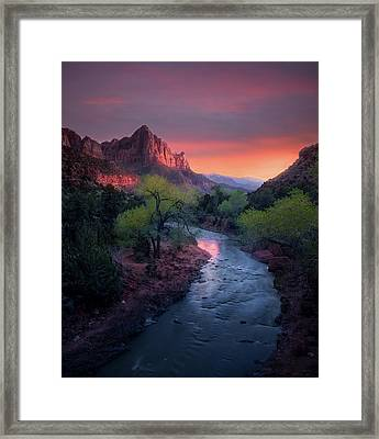 The Watchman // Zion National Park  Framed Print