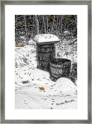 The Water Barrel Framed Print by Rusty Smith