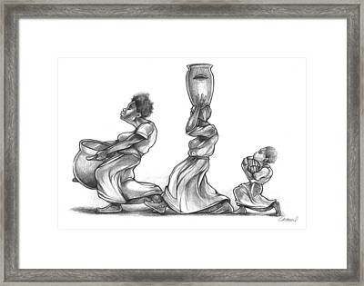 The Water Bearers Framed Print by Michael Colbert