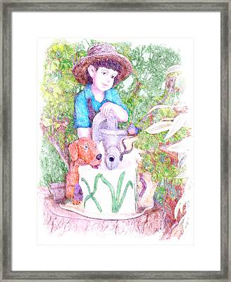 The Water Boy Framed Print