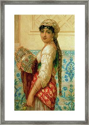 The Water Carrier Framed Print by Augustus Jules Bouvier
