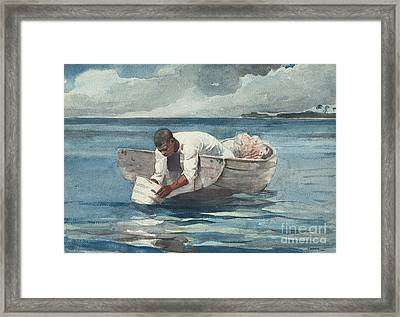 The Water Fan Framed Print by Winslow Homer
