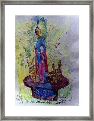 The Water Goddess Framed Print by Barb Greene mann