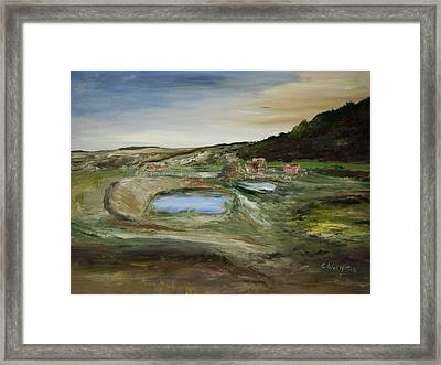 The Water Hole Ranch Framed Print by Edward Wolverton