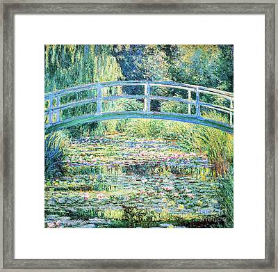 The Water Lily Pond By Monet Framed Print