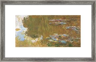 The Water Lily Pond, C. 1917-19, Albertina, Vienna Framed Print