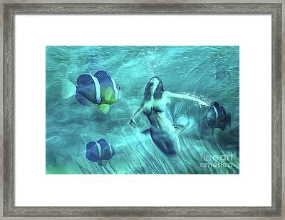 The Water Maid Framed Print by John Edwards