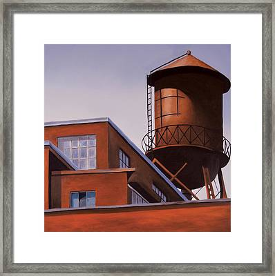 The Water Tower Framed Print by Duane Gordon