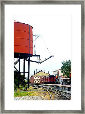 Framed Print featuring the photograph The Water Tower by Paul W Faust - Impressions of Light