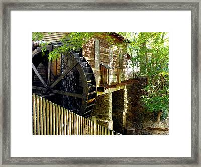 The Water Wheel Framed Print by Eva Thomas