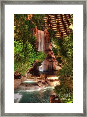 The Waterfall At The Wynn Resort Framed Print