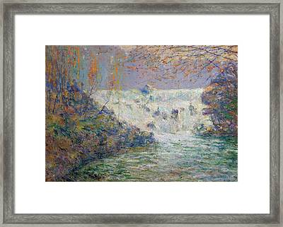 The Waterfall, Shore's Mill Tennessee Framed Print