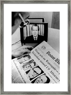 The Watergate Scandal Takes Framed Print by Everett