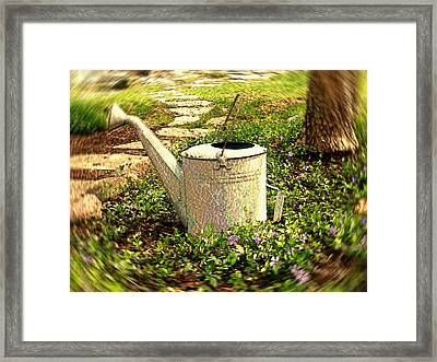 The Watering Can Framed Print