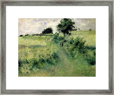 The Watering Place Framed Print by Renoir