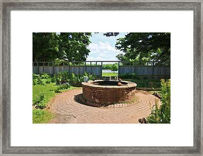 The Watering Well Pennsbury Manor  Framed Print by Valerie Stein